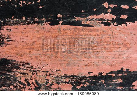 texture of an old rusty iron surface