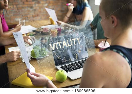 Vitality wellness healthy care balance