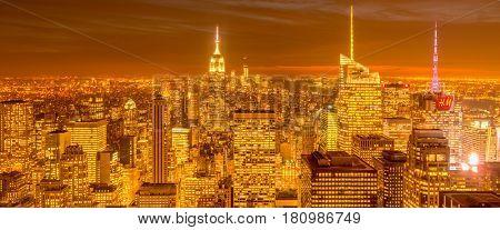 New York - DECEMBER 20, 2013: View of Lower Manhattan on Decembe