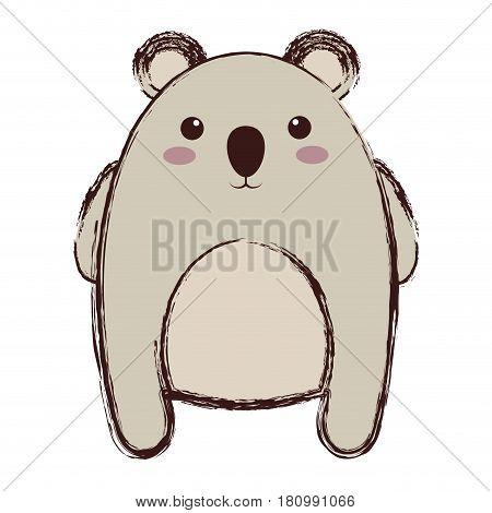 kawaii koala animal icon over white background. colorful design. vector illustration