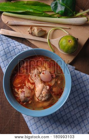 Tom Yum Chicken Tom Yum Is Thai Delicious Food