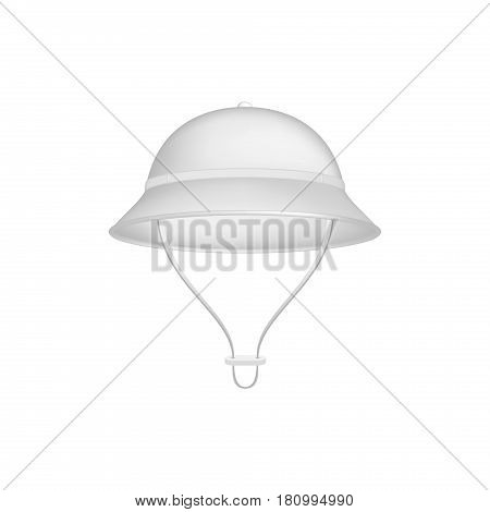 Pith helmet in white design on white background