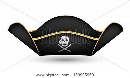 pirate captain's hat on  a white background