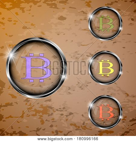 The vector set of transparent buttons for you business