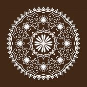 Henna tattoo mehndi flower template doodle ornamental lace decorative element and indian design pattern paisley arabesque mhendi embellishment vector. Traditional decorative mandala element. poster