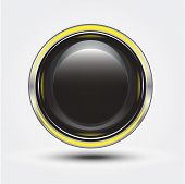 Vector black glossy button for sign & symbol poster