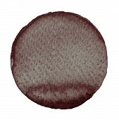 Watercolor abstract brown circle isolated on white background. A modern spot of round shape painted in watercolor in shades of hickory pecan chocolate and penny colors. Trendy watercolour texture poster