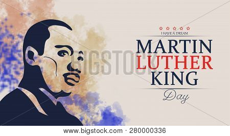 Illustration For Martin Luther King Day On White Background. Federal Holiday In Usa
