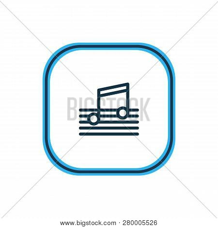 Vector Illustration Of Music Icon Line. Beautiful Holiday Element Also Can Be Used As Quaver Icon El