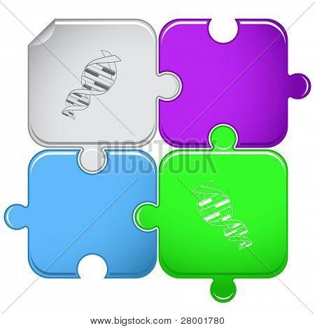 DNA. Raster puzzle. Vector version is in portfolio.