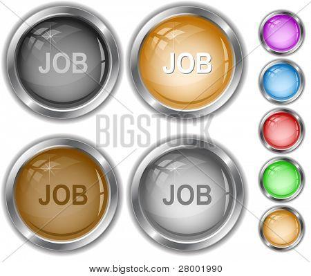 Job. Raster internet buttons. Vector version is in portfolio.