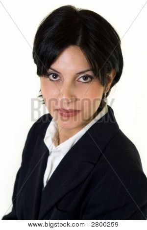 Short Hair Brunette Woman