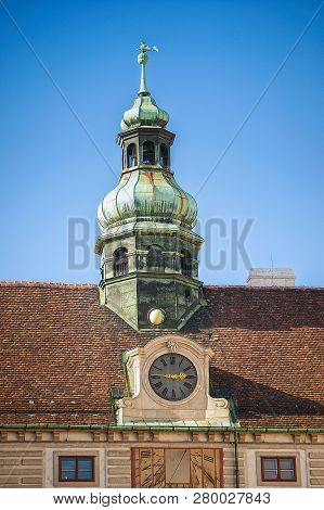 Clock Tower In The Patio Of Hofburg Imperial Palace