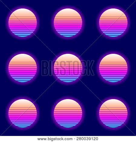 Retro Circle Pattern. Eps10 Vector With Transparency