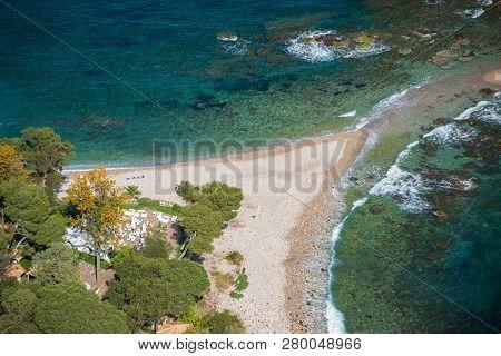 Isola Bella As Seen From Taormina, Sicily