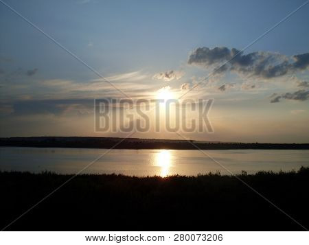 Sky Scenics Water Tranquility Beauty In Nature Tranquil Scene Reflection Sunset Sun Lake Cloud Silho