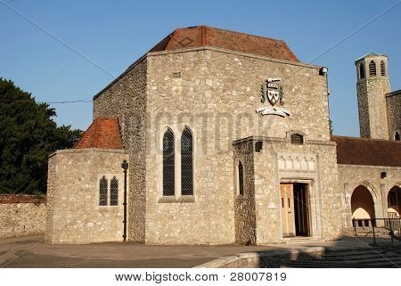 Aylesford Priory (The Friars) near Maidstone in Kent. A restored 13th century property belonging to the Order of Carmelites.