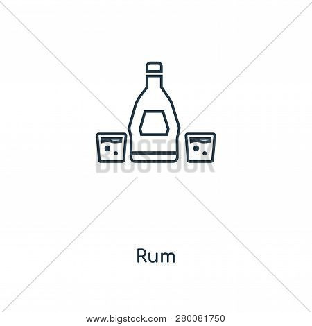Rum Icon In Trendy Design Style. Rum Icon Isolated On White Background. Rum Vector Icon Simple And M