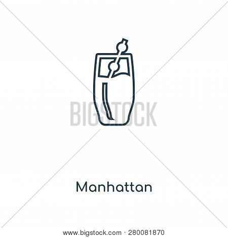 Manhattan Icon In Trendy Design Style. Manhattan Icon Isolated On White Background. Manhattan Vector