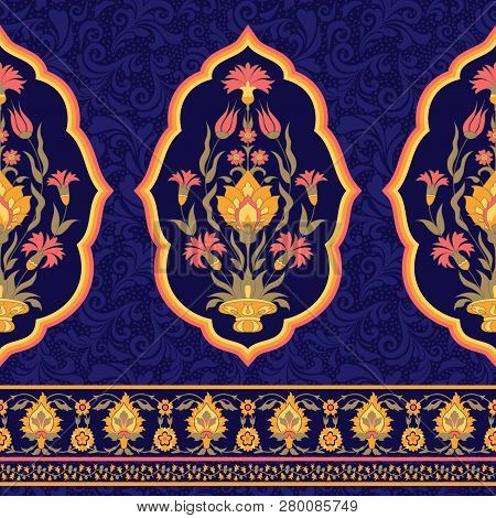 Ornate Floral Pattern. Traditional Design In Arabic Style