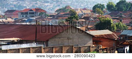 Houses And Other Buildings In Kampala, Uganda.