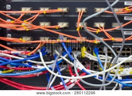 Blurred Image Cable Management Inserver Room A Bad Case Of Cable Spaghetti, The Worst Cable Mess, Co