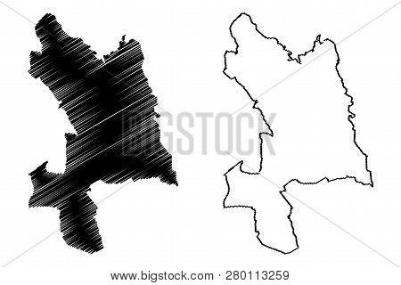 Kosice City (slovakia, Slovak Republic City) Map Vector Illustration, Scribble Sketch City Of Kosice