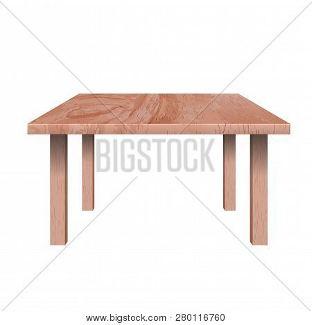 Rectangular Shaped Table, Used To Place At Living Rooms, Long Low Table Made Of Wooden Material, Vec