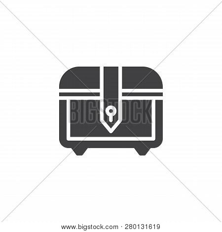 Treasure Chest Vector Icon. Filled Flat Sign For Mobile Concept And Web Design. Video Game Chest Sim