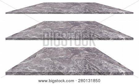 Stone Plate Isolated On White Background. Stone Texture Or Stone Background. Stone For Interior Exte