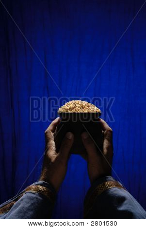 Offering Of Grains To God.