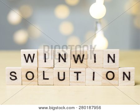 Win-win Solution Words Concept