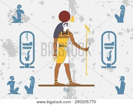 Ancient Egypt Backgrounds. Sun God - Ra. Sun God Of Ancient Egypt. Ra Is The Ancient Egyptian Deity
