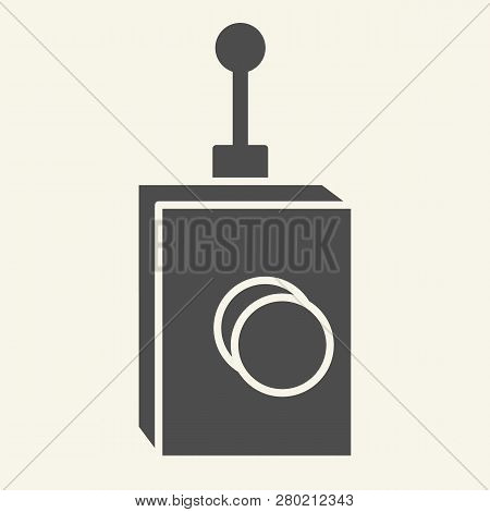 Remote Controller Solid Icon. Remote Controller With Antena Vector Illustration Isolated On White. T