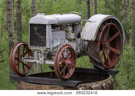 Old Antique Powered Farm Machinery Used By Early Farmers