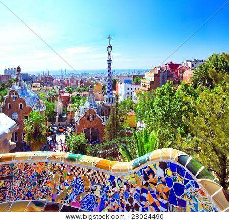 Barcelona, Spanien 25. Juli: die berühmten Park Guell am 25. Juli 2011 in Barcelona, Spanien. Park Güell ich