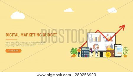 Website Design Landing Page Ui Ux For Digital Marketing Budget Financial Campaign For Advertising Te