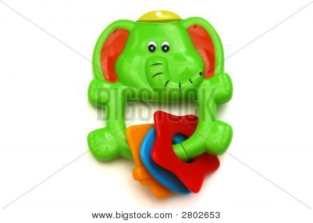 Green Elephant Rattle