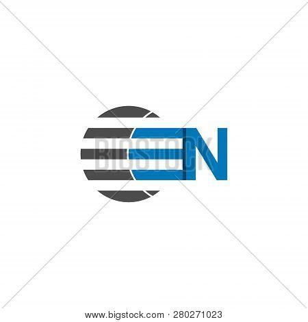 Business Logo Design, Letter N Graphic Logo. Initial Letter N Graphic Logo Template, Isolated On Whi