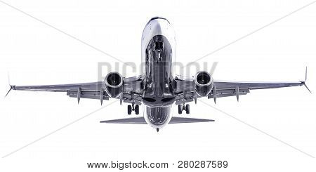Isolated Modern Aircraft Against A White Background