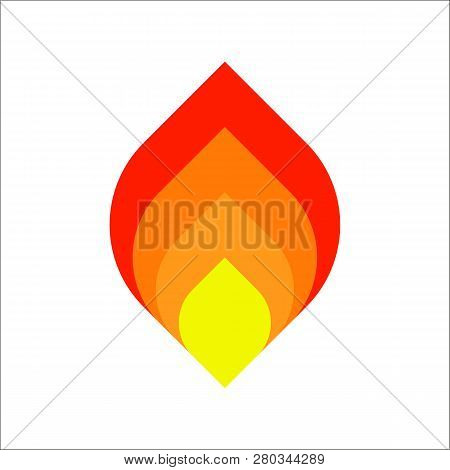 Flame Logo Vector Template. Fire Logo Design Graphic. Torch Logo Design Element. Hot Fire Icon.fire