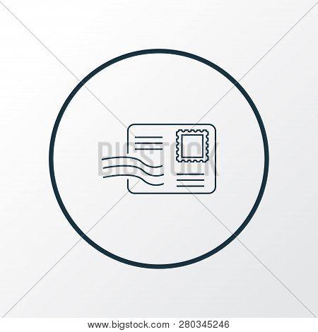 Postcrossing Icon Line Symbol. Premium Quality Isolated Envelope Element In Trendy Style.