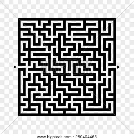 Abstract Square Maze. Game For Kids. Puzzle For Children. Labyrinth Conundrum. Flat Vector Illustrat