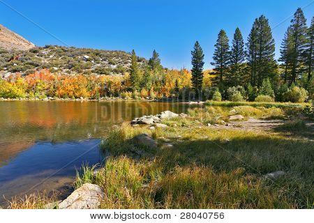 Very beautiful lake about the city of Bishop in California