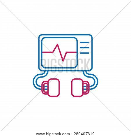 Medical, Defibrillator Colored Icon. Element Of Medicine Illustration. Signs And Symbols Icon Can Be