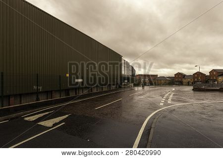 Wall Permanently Dividing Protestant And Catholic Neighborhoods In Belfast