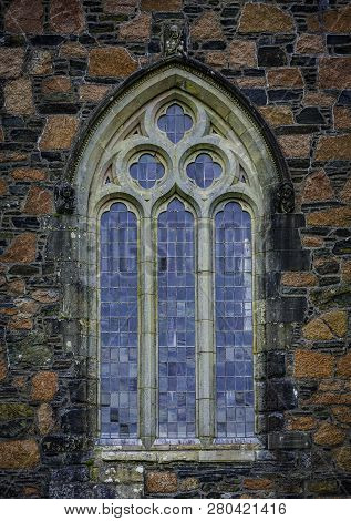 Gothic Window Detail On Iona Abbey Scotland