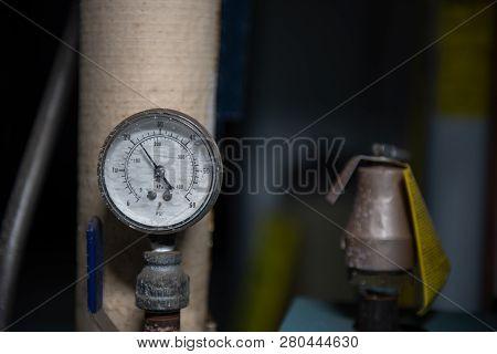 A Vintage Pressure Gauge A Showing Pressure