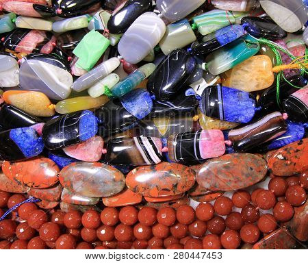 Many Colorful Stones As A Natural Background
