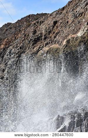La Bufadora Blowhole In Ensenada In Mexico